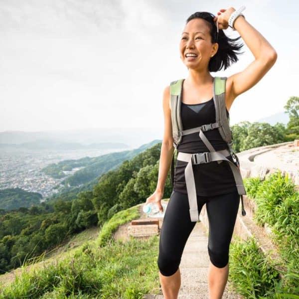 Lady hiking